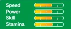 Luigi's stats in Rio 2016 3DS
