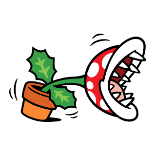 Potted Piranha Plant stamp from Super Mario 3D World + Bowser's Fury.