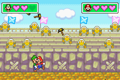 The Duel mini-game, Hammergeddon from Mario Party Advance