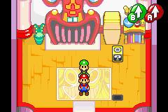 Hidden? Block location in Beanbean Castle Town, in Mario & Luigi: Superstar Saga.