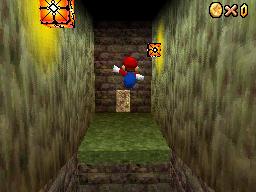 Mario at Hazy Maze Cave