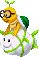 Sprite of a Lakipea from Mario & Luigi: Superstar Saga + Bowser's Minions.