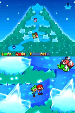 Mario, Luigi, Baby Mario, and Baby Luigi on Star Hill