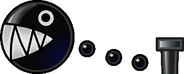 A Chain Chomp, as it appears in Paper Mario: The Thousand-Year Door.