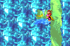 The location of the Golden Feather of Black Ice Battle in the Game Boy Advance version