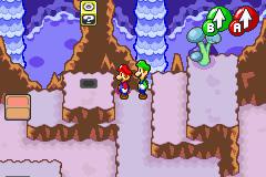 Hidden? Block location in Chucklehuck Woods, in Mario & Luigi: Superstar Saga.