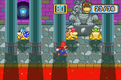 The Bowser mini-game, Peek-n-Sneak from Mario Party Advance
