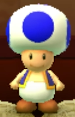 Blue Toad as viewed in the Character Museum from Mario Party: Star Rush