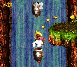 First bonus level in Rocket Barrel Ride