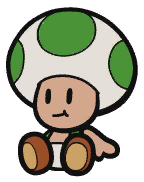 The Green Energy Plant researcher from Paper Mario: Color Splash.