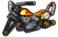 Flame Rider body from Mario Kart 8