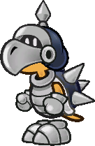 Sprite of a Koopatrol from Super Paper Mario.
