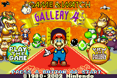 The title screen in the American English version of Game & Watch Gallery 4.