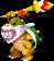 Bowser Jr. (Ranged) holding his Magic Paintbrush in Mario & Luigi: Bowser's Inside Story + Bowser Jr.'s Journey.