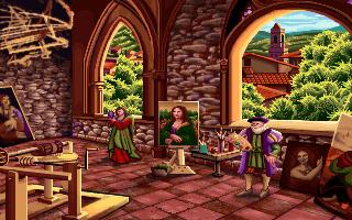 Leonardo da Vinci in the PC release of Mario's Time Machine