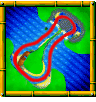 Whale Bay course icon from Diddy Kong Racing DS.