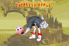 Expresso Bonus! Bonus Area title card in the Game Boy Advance version of Donkey Kong Country