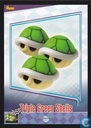 The Triple Green Shells card from the Mario Kart Wii trading cards