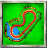 Ancient Lake course icon from Diddy Kong Racing DS.