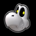 Dry Bones's head icon in Mario Kart 8 Deluxe.