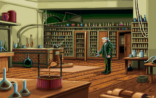 Michael Faraday in the PC release of Mario's Time Machine