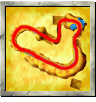Fossil Canyon course icon from Diddy Kong Racing DS.