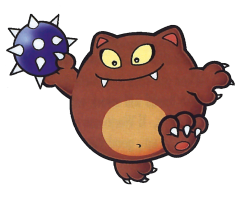 Artwork of a Chippy (enemy) from Virtual Boy Wario Land