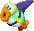 Sprite of a Sand Cheep from Mario & Luigi: Superstar Saga + Bowser's Minions.