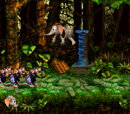 Ellie the Elephant jumps at the sight of three Sneeks in Stampede Sprint.