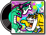 The record case (not the actual record) 18 x 13 in WarioWare Gold.