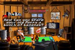 Cranky Kong talking to Donkey Kong.