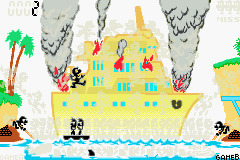 Lifeboat as it appears in Game & Watch Gallery 4