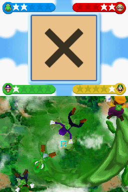 Gameplay of Parachutin' Gallery in Mario Party DS