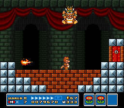 Bowser does a ground pound in Super Mario Bros. 3.