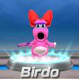 Birdo in tennis from Mario Sports Superstars