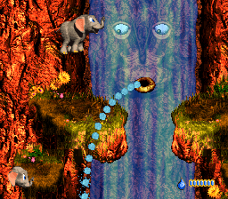 Ellie fights Squirt in Donkey Kong Country 3.
