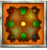 Fire Mountain course icon from Diddy Kong Racing DS.