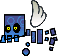 Sprite of a Skellobomber from Super Paper Mario.