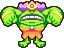 Queen Bean (monster) overworld sprite from Mario & Luigi: Superstar Saga.
