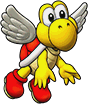 Sprite of Red Koopa Paratroopa's team image, from Puzzle & Dragons: Super Mario Bros. Edition.