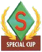 Mario Kart: Super Circuit promotional artwork: The Special Cup emblem.