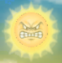 An Angry Sun from Mario Kart Wii