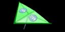 Green Mii's Super Glider in Mario Kart 7