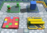 The icon for Block City, from Mario Kart Double Dash!!.