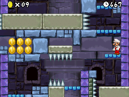 Mario in World 7-Tower.