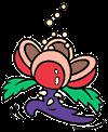 Official artwork of a Pompon Flower.