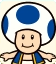 Sprite of Blue Toad from Mario Party: Star Rush
