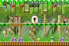 Level 2-2+ of Mario vs. Donkey Kong.