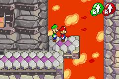 Hidden? Block location in Bowser's Castle, in Mario & Luigi: Superstar Saga.