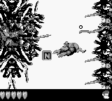 Kiddy Kong finds the letter N in Seabed Shanty in the original Game Boy version of Donkey Kong Land III